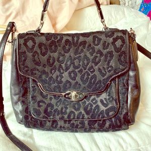 Cheetah Coach Crossbody